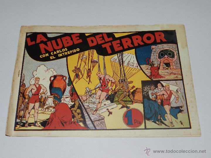 (M1) CARLOS EL INTREPIDO NUM 11 LA NUBE DEL TERROR , HISPANO AMERICANA 1942, SEÑALES DE USO (Tebeos y Comics - Hispano Americana - Carlos el Intrépido)