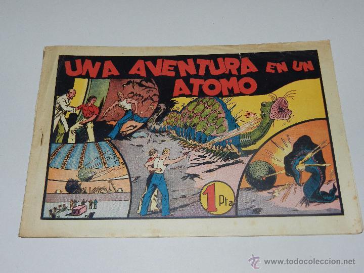 (M1) CARLOS EL INTREPIDO NUM 13 UNA AVENTURA EN UN ATOMO , HISPANO AMERICANA 1942, SEÑALES DE USO (Tebeos y Comics - Hispano Americana - Carlos el Intrépido)