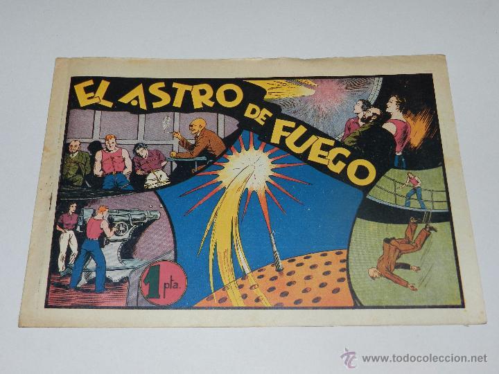 (M1) CARLOS EL INTREPIDO NUM 15 EL ASTRO DE FUEGO , HISPANO AMERICANA 1942, SEÑALES DE USO (Tebeos y Comics - Hispano Americana - Carlos el Intrépido)