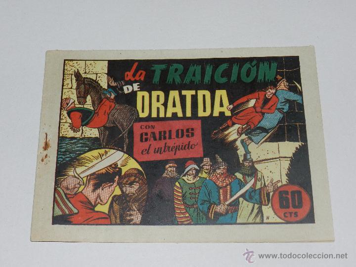 (M1) CARLOS EL INTREPIDO NUM 34 LA TRAICION DE DRATDA , HISPANO AMERICANA 1942, SEÑALES DE USO (Tebeos y Comics - Hispano Americana - Carlos el Intrépido)