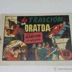 Tebeos: (M1) CARLOS EL INTREPIDO NUM 34 LA TRAICION DE DRATDA , HISPANO AMERICANA 1942, SEÑALES DE USO. Lote 54767818