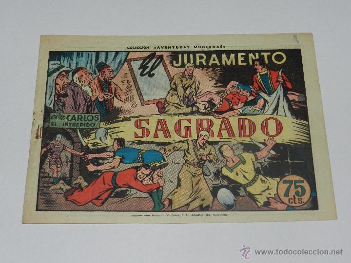 (M1) CARLOS EL INTREPIDO NUM 37 SAGRADO , HISPANO AMERICANA 1942, SEÑALES DE USO (Tebeos y Comics - Hispano Americana - Carlos el Intrépido)