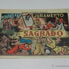 Tebeos: (M1) CARLOS EL INTREPIDO NUM 37 SAGRADO , HISPANO AMERICANA 1942, SEÑALES DE USO. Lote 54767893