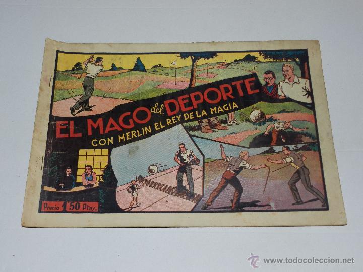 (M1) MERLIN EL REY DE LA MAGIA NUM 8 EL MAGO DEL DEPORTE, HISPANO AMERICANA (Tebeos y Comics - Hispano Americana - Merlín)