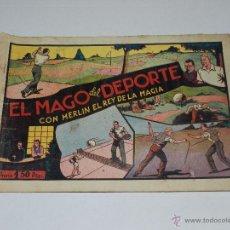 Tebeos: (M1) MERLIN EL REY DE LA MAGIA NUM 8 EL MAGO DEL DEPORTE, HISPANO AMERICANA. Lote 54829531