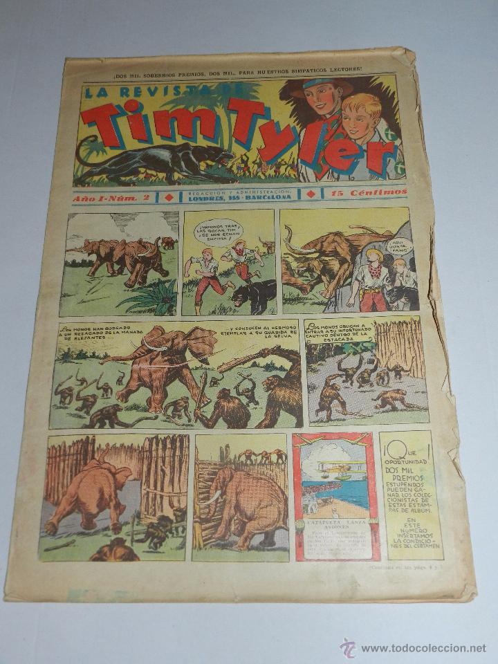 (M3) TIM TYLER AÑO I NUM 2 , HISPANO AMERICA , SEÑALES DE USO (Tebeos y Comics - Hispano Americana - Tim Tyler)