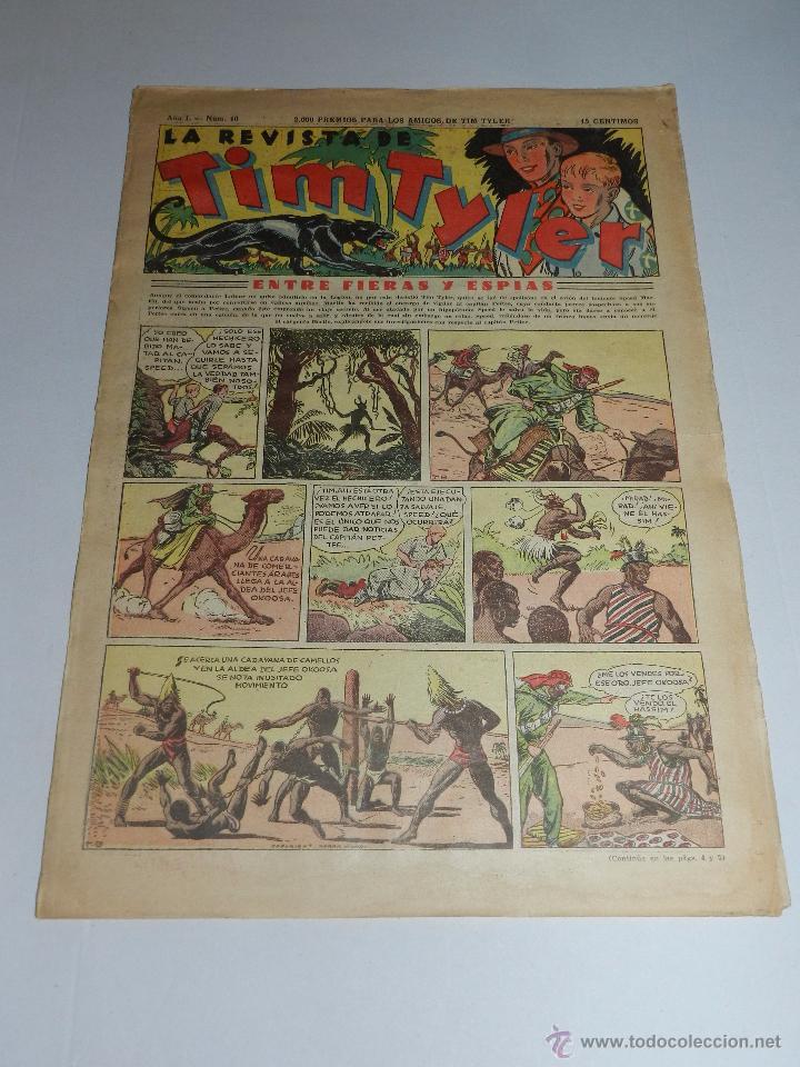 (M3) TIM TYLER AÑO I NUM 10 , HISPANO AMERICA , SEÑALES DE USO (Tebeos y Comics - Hispano Americana - Tim Tyler)