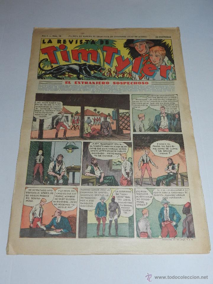 (M3) TIM TYLER AÑO I NUM 14 , HISPANO AMERICA , SEÑALES DE USO (Tebeos y Comics - Hispano Americana - Tim Tyler)