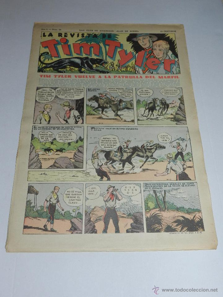 (M3) TIM TYLER AÑO I NUM 25 , HISPANO AMERICA , SEÑALES DE USO (Tebeos y Comics - Hispano Americana - Tim Tyler)