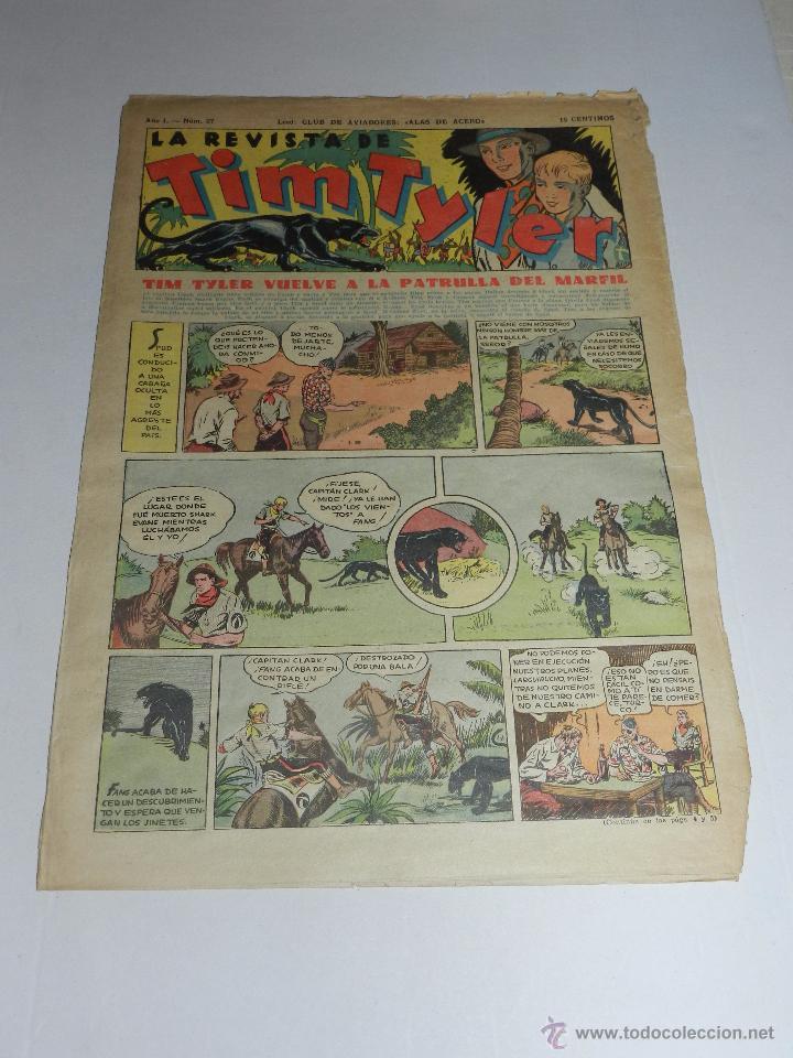 (M3) TIM TYLER AÑO I NUM 27 , HISPANO AMERICA , SEÑALES DE USO (Tebeos y Comics - Hispano Americana - Tim Tyler)