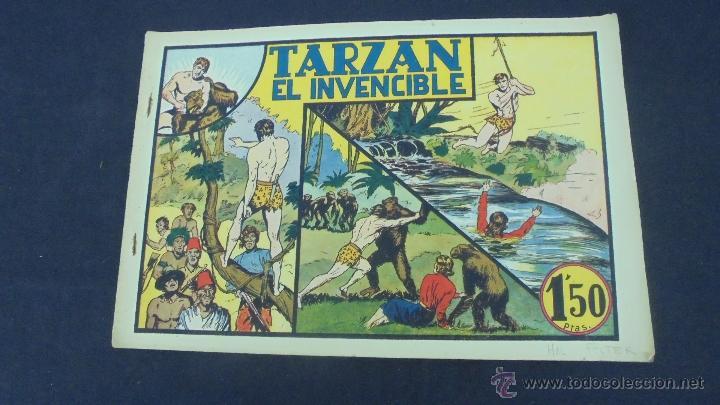 TARZAN EL INVENCIBLE - HISPANO AMERICANA - ORIGINAL - (Tebeos y Comics - Hispano Americana - Tarzán)
