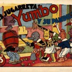 Tebeos: ARCHIVO (554): YUMBO: LAS JUGARRETAS DE YUMBO Y SU PANDILLA (HISPANO AMERICANA, 1943) NUEVO. Lote 55223956
