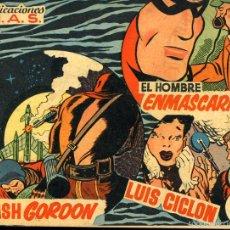 Tebeos: FLASH GORDON Nº11, PUBLICACIONES M.A.S. EL HOMBRE ENMASCARADO, LUIS CICLON.. Lote 55396368