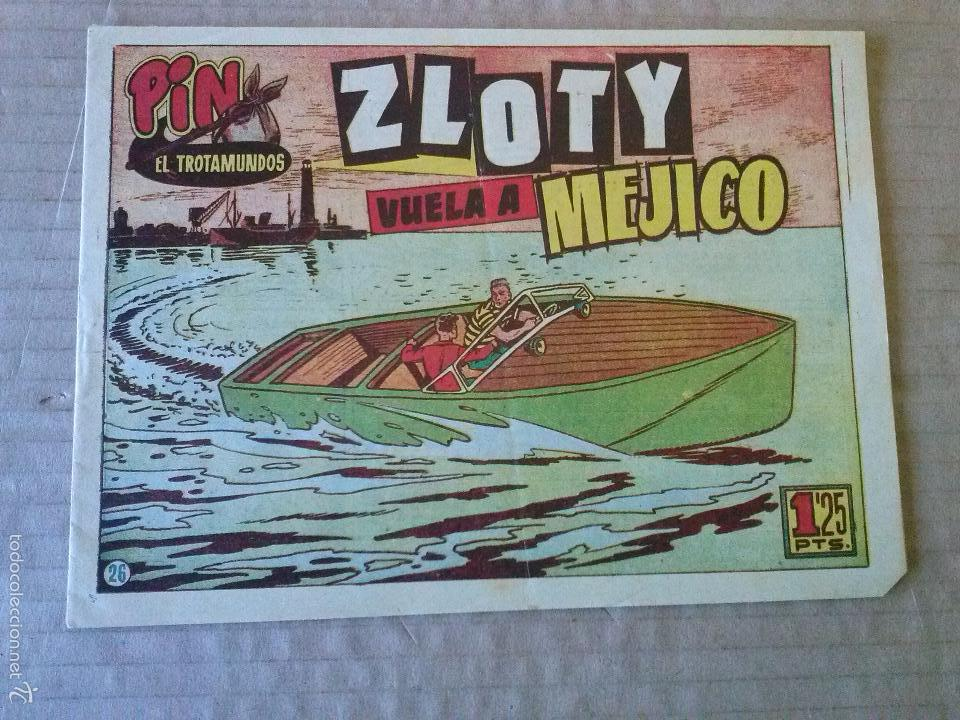 PIN EL TROTAMUNDOS - N 26 - ORIGINAL - HISPANO AMERICANA - BIEN - TA (Tebeos y Comics - Hispano Americana - Otros)
