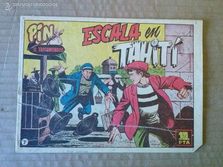 PIN EL TROTAMUNDOS - N 7 - ORIGINAL - HISPANO AMERICANA - BIEN - TA (Tebeos y Comics - Hispano Americana - Otros)