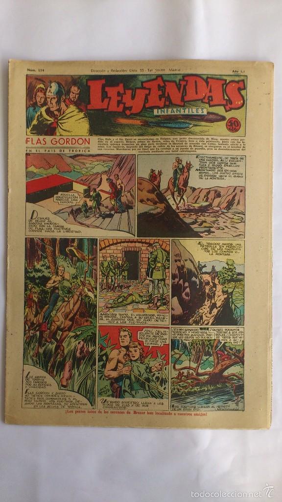 LEYENDAS INFANTILES, AÑO III - Nº 114 (Tebeos y Comics - Hispano Americana - Leyendas Infantiles)