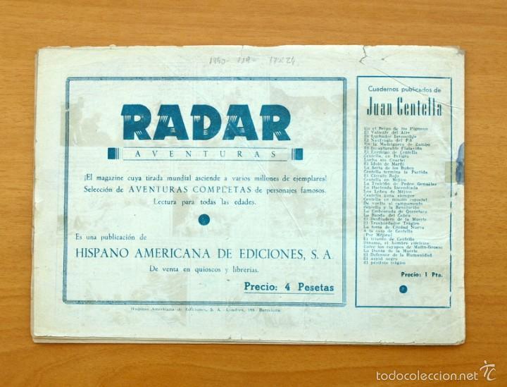 Tebeos: Juan Centella nº 119-La roca de los espectros - Hispano Americana 1940 - Foto 4 - 56868094