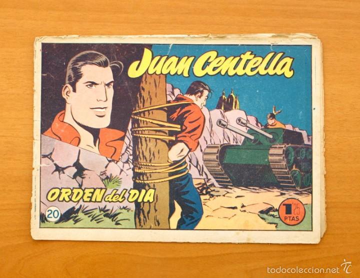JUAN CENTELLA Nº 20 - ORDEN DEL DIA - HISPANO AMERICANA 1955 (Tebeos y Comics - Hispano Americana - Juan Centella)