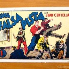 Tebeos: JUAN CENTELLA, Nº 63 UNA FALSA PISTA - EDITORIAL HISPANO AMERICANA 1940. Lote 56869318