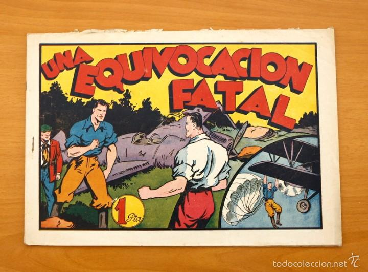 JUAN CENTELLA - Nº 50 UNA EQUIVOCACIÓN FATAL - EDITORIAL HISPANO AMERICANA 1940 (Tebeos y Comics - Hispano Americana - Juan Centella)