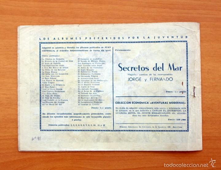 Tebeos: Juan Centella - nº 91 Centella en peligro - Editorial Hispano Americana 1940 - Foto 3 - 56875190