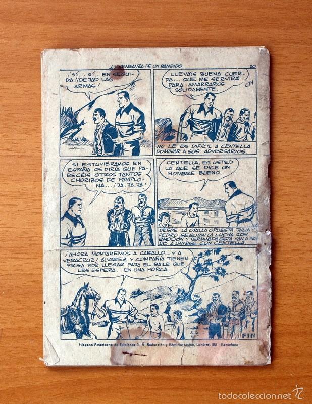 Tebeos: Juan Centella, nº 24 La venganza de un bandido - Editorial Hispano Americana 1951 - Foto 5 - 56887615