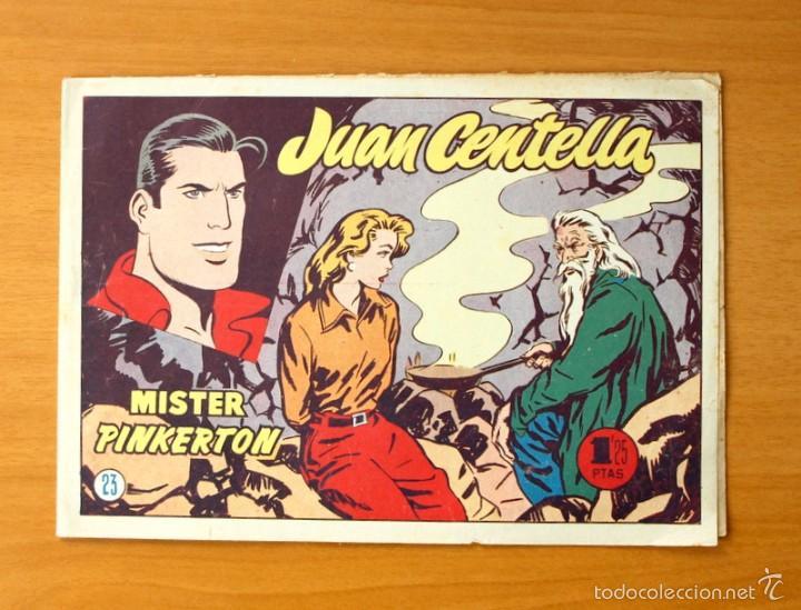 JUAN CENTELLA, Nº 23 MISTER PINKERTON - EDITORIAL HISPANO AMERICANA 1955 (Tebeos y Comics - Hispano Americana - Juan Centella)