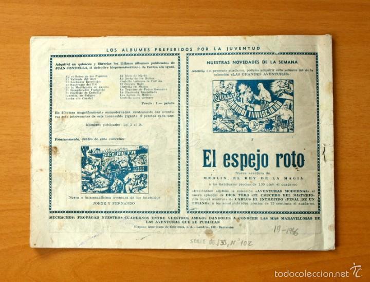 Tebeos: Juan Centella, nº 102 Centella en misión especial - Editorial Hispano Americana 1940 - Foto 3 - 56888189