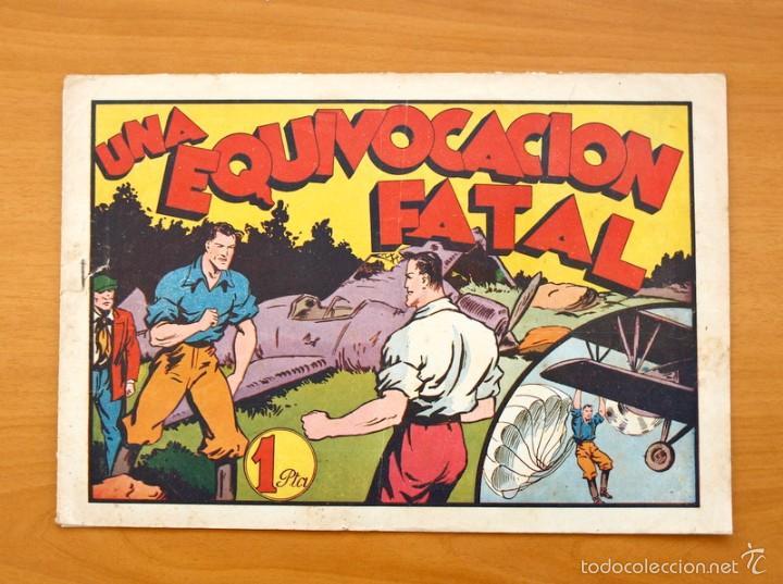 JUAN CENTELLA, Nº 50 UNA EQUIVOCACIÓN FATAL - EDITORIAL HISPANO AMERICANA 1940 (Tebeos y Comics - Hispano Americana - Juan Centella)