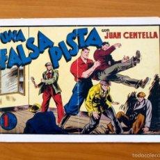 Tebeos: JUAN CENTELLA, Nº 63 UNA FALSA PISTA - EDITORIAL HISPANO AMERICANA 1940. Lote 56888597