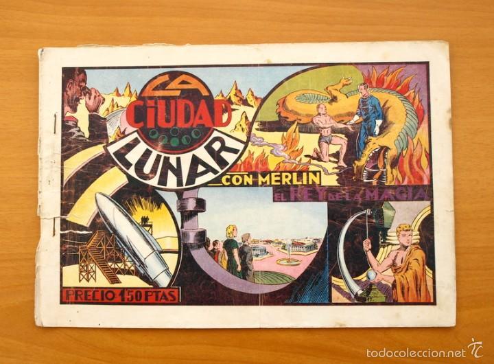 MERLÍN EL MAGO - Nº 7, LA CIUDAD LUNAR - EDITORIAL HISPANO AMERICANA 1942 (Tebeos y Comics - Hispano Americana - Merlín)