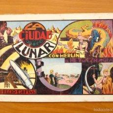 Tebeos: MERLÍN EL MAGO - Nº 7, LA CIUDAD LUNAR - EDITORIAL HISPANO AMERICANA 1942. Lote 56896011