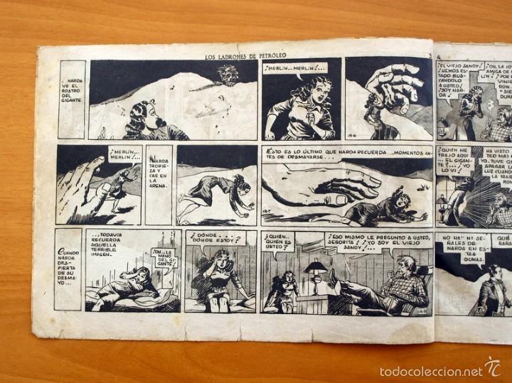 Tebeos: Merlín el mago - Nº 25, los ladrones de Petroleo - Editorial Hispano Americana 1942 - Foto 2 - 56896265