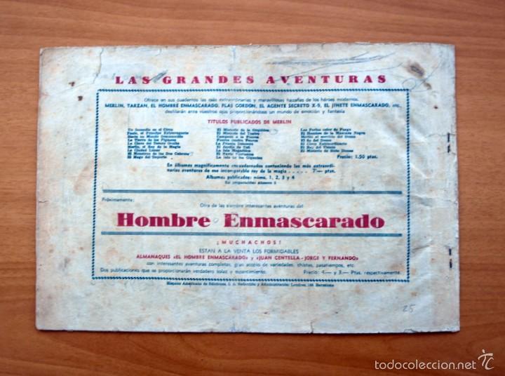 Tebeos: Merlín el mago - Nº 25, los ladrones de Petroleo - Editorial Hispano Americana 1942 - Foto 4 - 56896265