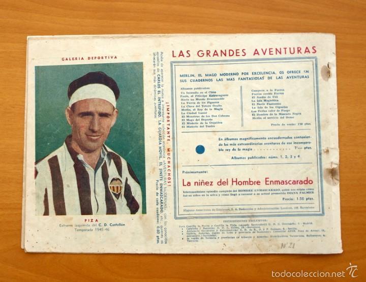 Tebeos: Merlín el mago - Nº 21, el fin del Domo - Editorial Hispano Americana 1942 - Foto 4 - 56907520