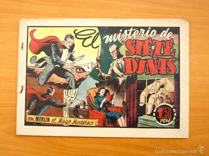 MERLÍN EL MAGO - Nº 24, EL MISTERIO DE SIETE DUNAS - EDITORIAL HISPANO AMERICANA 1942 (Tebeos y Comics - Hispano Americana - Merlín)