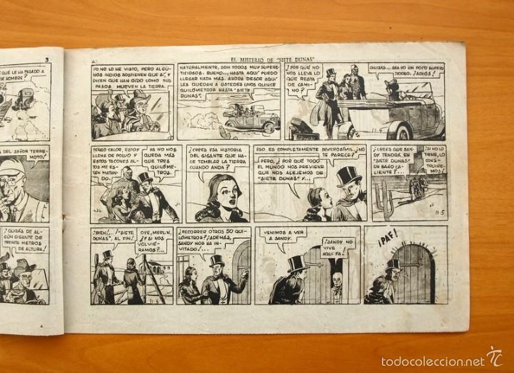 Tebeos: Merlín el mago - Nº 24, el misterio de siete dunas - Editorial Hispano Americana 1942 - Foto 3 - 56907541