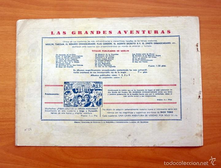 Tebeos: Merlín el mago - Nº 24, el misterio de siete dunas - Editorial Hispano Americana 1942 - Foto 4 - 56907541