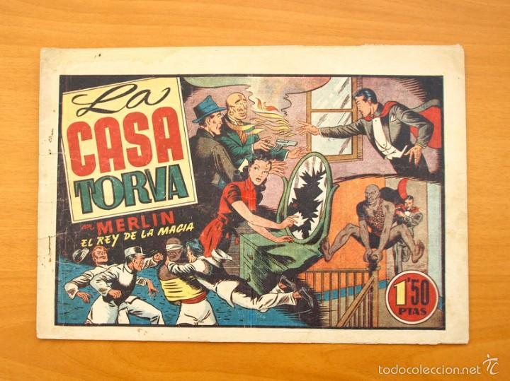 MERLÍN EL MAGO - Nº 29, LA CASA TORVA - EDITORIAL HISPANO AMERICANA 1942 (Tebeos y Comics - Hispano Americana - Merlín)