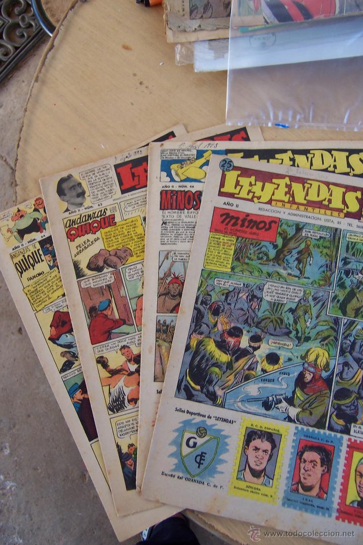 Tebeos: hispano americana lote leyendas infantiles 84 al 182 y muestras de la 1º y 3ª ep.y almanaques - Foto 9 - 64073673