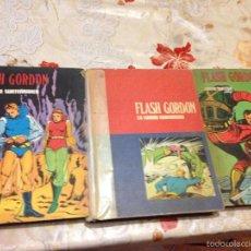 Tebeos: LOTE DE TRES LIBROS COMICS DE FLASH GORDON AÑO 1972 BURU LAN. Lote 58222403