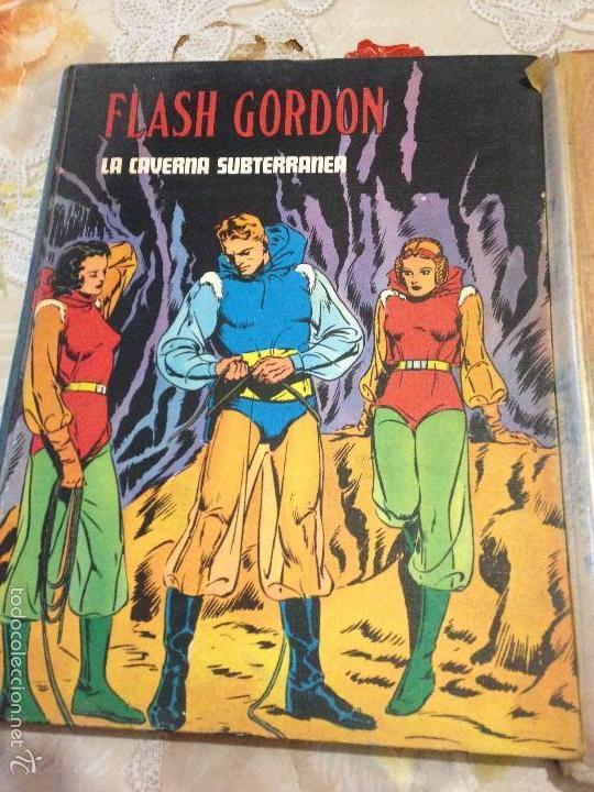 Tebeos: LOTE DE TRES LIBROS COMICS DE FLASH GORDON AÑO 1972 BURU LAN - Foto 2 - 58222403