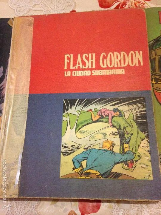 Tebeos: LOTE DE TRES LIBROS COMICS DE FLASH GORDON AÑO 1972 BURU LAN - Foto 3 - 58222403