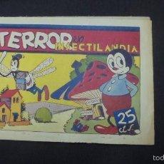 Tebeos: TERROR EN INSECTILANDIA - HISPANO AMERICANA - AÑOS 40 - . Lote 59517915
