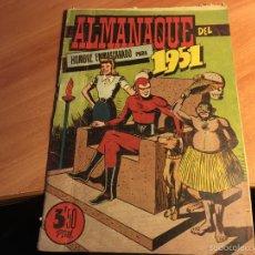 Tebeos: EL HOMBRE ENMASCARADO. ALMANAQUE PARA 1951. (ORIGINAL HISPANO AMERICANA) (COI7). Lote 60122075