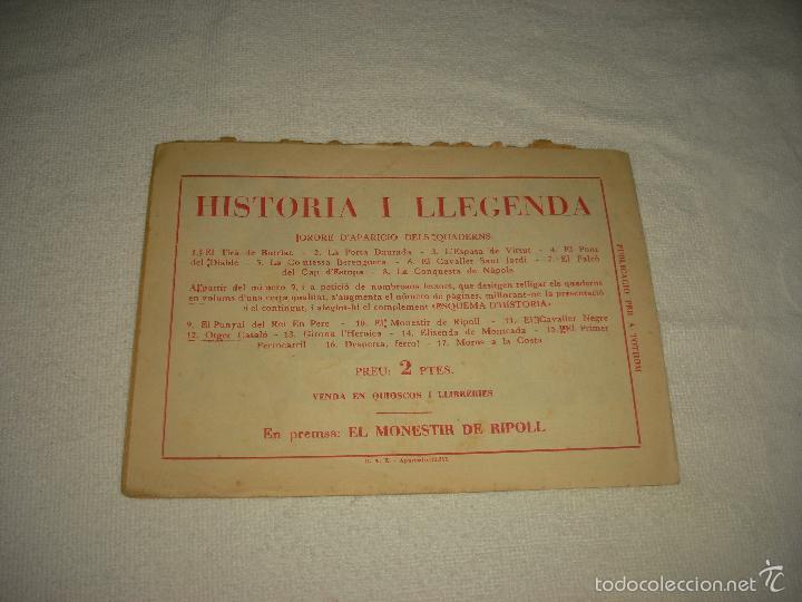 Tebeos: HISTORIA I LLEGENDA . EL PUNYAL DEL REI EN PERE . N° 9 - Foto 2 - 61123479