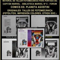 Tebeos: FOTOLITOS E IMPRESIÓN - BIBLIOTECA CAPITAN MARVEL Nº 5 - FORUM PLANETA AGOSTINI - COMIC - COMICS. Lote 62733460