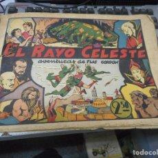 Tebeos: PRIMER NUMERO FLASH GORDON EL RAYO CELESTE CROMO FUTBOL CONTRAPORTADA. Lote 62761208
