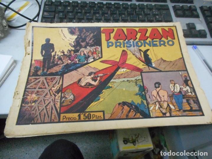TARZAN PRISIONERO CON CROMO FUTBOL CONTRAPORTADA (Tebeos y Comics - Hispano Americana - Tarzán)