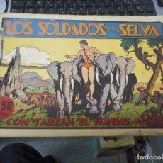 Tebeos: TARZAN LOS SOLDADOS DE LA SELVA CON CROMO FUTBOL EN CONTRAPORTADA. Lote 62763340